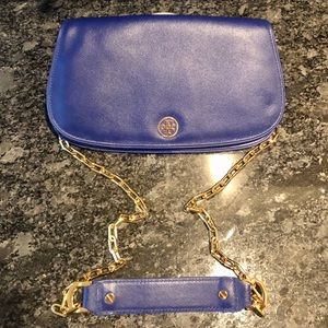 Tory Burch Blue Convertible Crossbody